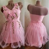 в наличии! Новое очень красивое платье, цвет розовый