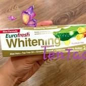 Отбеливающая зубная паста EuroFresh Whitening от Farmasi ! 112 гр !