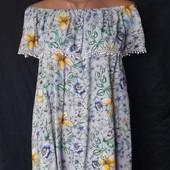 Свободная лёгкая блузочка с открытыми плечами, George,xl/2xl/3xl