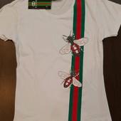 Женская футболка Gucci !!! M размер!!!