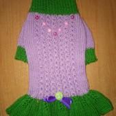 Нарядное платьице для собачки мелкой породы или кошечке