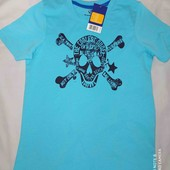 lupilu.яркая хлопковая футболка  с принтом 110/116замеры