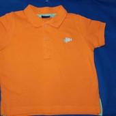 lupilu.классная хлопковая футболка поло 86/92замеры