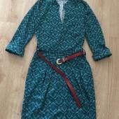 Красивое платье с рукавом на три четверти с ремнём