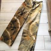 Стильно и модно! Натуральные укороченные брюки кюлоты на талию, от бренда Zara, в новом состоянии