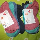 Коротенькие мужские меланжевые носочки. Сток. Италия