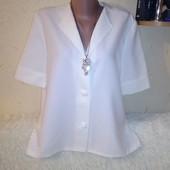 Белая блуза 52 размера.