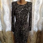 Стильное платье с леопардовым принтом marks & spencer