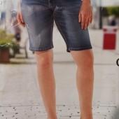Стильные женские джинсовые шорты бермуды Giada(Германия). Размер евро 52