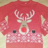 Супер лот!!! Next новогодний свитер 8лет