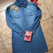Платье рубашка,лёгкий джинс,100%котон