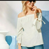 esmara.классная катоновая блуза  кармен размер  евро 36+6замеры