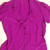 Блузка F&F из натурального шелка