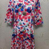 Шикарное нарядное яркое плотненькое стрейчевое платье р.18 Акция читайте