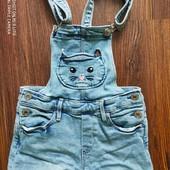 шикарный  летний джинсовый комбезик H&M