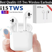 Bluetooth наушники double bt i15-tws. звук-супер!