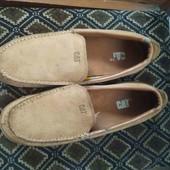 Фирменные мужские туфли-макасины(Cat),р-р 44.