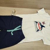 Германия!!! Суперовый лот из коттоновой футболки 110/116 и бермуд 116!
