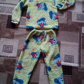 Пижама махровая одна на выбор 4-6 лет