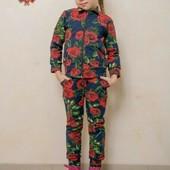 Крутой костюм двунитка для девочки.