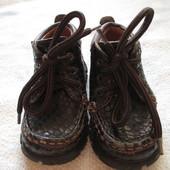 Б.у Туфельки-ботиночки, полностью кожа, 20р. по стельке 12,5 см.