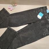 Германия!!! Стильные джинсы для мальчика, металлические украшения! 152 рост!
