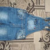 Новый джинсовой комбинезон