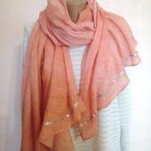 шарф-шаль с пайетками от Tchibo( Германия), размер 95х165 см