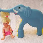Игровой набор - куколка на детской площадке