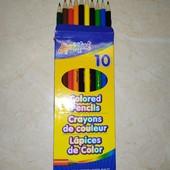 Цветные карандаши 10 шт
