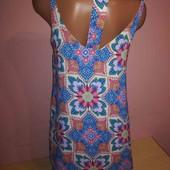 Яркое платье с интересной спинкой на подкладке от New Look. Состояние отличное.