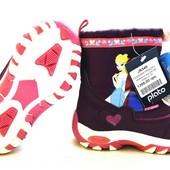 Фирменные зимние ботинки, мембрана, серии Frozen от Disney. Еврозима. 24, 25, 26, 27, 28 размеры