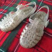 Next uk9/27р силиконовые сандалики в блестках