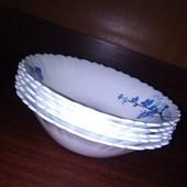Очень красивые салатники!-6 штук,стеклокерамика, диаметр 20,5 см,высота 5см