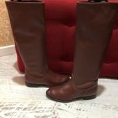 Високі чоботи із натуральної шкіри,від Andre,розмір 37,устілка 23,5