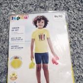купальний костюм футболка +шорти Lupilu 86/92захист +50