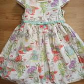 Нарядное платье на подкладке.2-3 года.