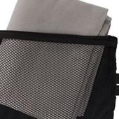 Полотенце Crivit в сумочки-чехле для спорта, отдыха в лоте серое