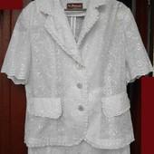 Костюм (пиджак и юбка) 48-50 р., одет один раз
