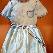 Платье-джинс 100%коттон Denim Co