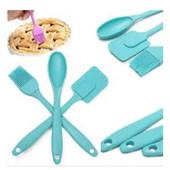 набор для кухни:кисть,лопатка,ложка.цвет салатовый