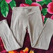 Утеплённые леггинсы для девочки, рост 110-116