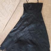 Маленькое почти чёрное платье XS