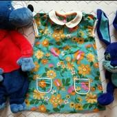 Платье Mothercare,с карманами,возраст 9_12мес,рост 80см, в идеале