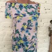 Відмінний варіант на тепло Костюмчики шорти і блузка з воланом Штапель Чудові візерунки