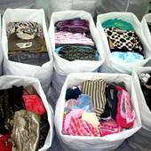 Женские вещи пакетом 1 кг Блузки, рубашки, футболки, юбки, туники, брюки, жакеты, ...