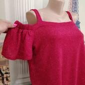 Красивая блестящая блузка, Quiz размер XL