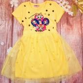 Красивое яркое платье с Лол . Турция. Размер 5-6