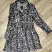 Стильное вискозное платье в змеиный принт Esmara размер указан нем 36 смотрите замеры!