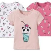 Очаровательная футболка для девочки, Lupilu Германия, размер 110/116